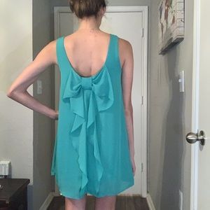 Everly - Teal Dress w/ bow backside 👗